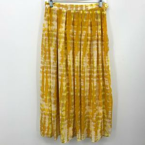 Who What Wear Maxi Skirt Size 4 Yellow Tie Dye
